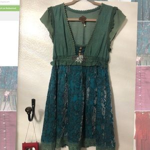 Free People turquoise dress